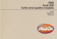 Audi 200, turbo & quattro 1989 OM