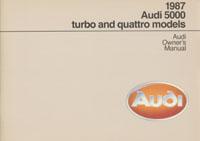 AUDI 5000 TURBO & QUATTRO 1987 OM