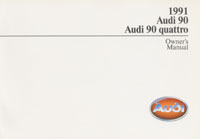Audi 90/90 quattro 1991 OM        