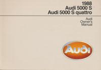 AUDI 5000 S/5000 S QUATTRO 1988 OM