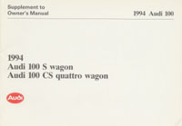 AUDI 100 S/CS WAGON SUPPL 1994 OM