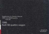 AUDI S6 WAGON SUPPL 1995 OM