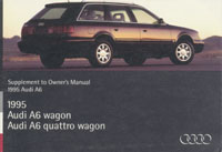 AUDI A6 WAGON SUPPL 1995 OM