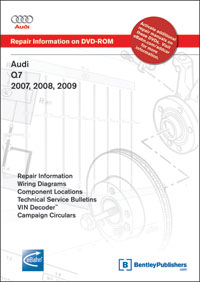 Audi Q7 2007, 2008, 2009 Repair Manual on DVD-ROM - Bentley Publishers