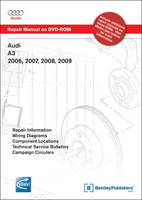 audi a3 2006 2007 2008 2009 repair manual on dvd rom bentley rh bentleypublishers com Audi A3 Service Manual audi a3 2000 manual