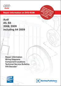 audi a5 s5 2008, 2009, a4 2009 repair manual on dvd rom bentley 2008 Audi A4 Engine Diagram at Bentley Audi A4 B8 Wiring Diagram