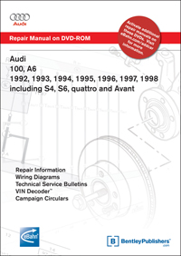audi 100, s4 sedan, wagon 1992 - bentley publishers - repair, Wiring diagram