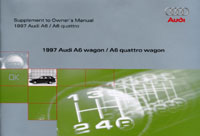 Audi A6 Wagon Supplement 1997 OM  