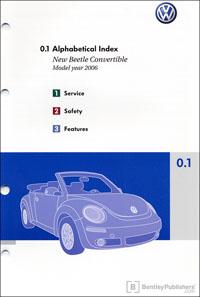 VW New Beetle Conv 2006 OM Binder