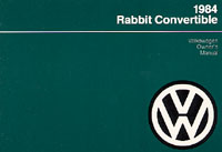 VW RABBIT CONVERTIBLE 1984 OM