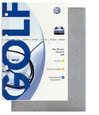 VW Golf 2002 OM Binder