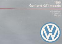VW GOLF/GTI 1990 OM