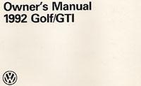 VW GOLF/GTI 1992 OM