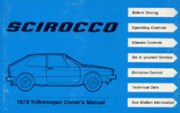 VW SCIROCCO 1978 OM