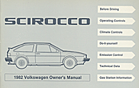 VW SCIROCCO 1982 OM