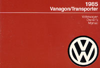 VW VANAGON/TRANSPORTER 1985 OM