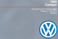 VW CAMPER SUPPLEMENT 1989 OM