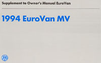 VW EUROVAN MV SUPPLEMENT