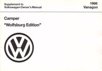 VW Camper Wolfsburg Suppl 1986 OM