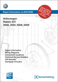 VW GTI,Rabbit 2006-09 DVD-ROM