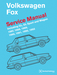 Vw Volkswagen Fox Service Manual 1987 1993 Bentley