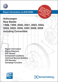 VW New Beetle 1998-2009 DVD-ROM