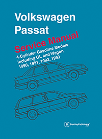 vw volkswagen repair manual passat 1990 1993 bentley rh bentleypublishers com 1992 VW Golf 1 8 Ltr Volkswagen Sedan 1992