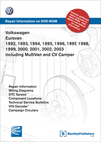 volkswagen eurovan  volkswagen eurovan 1992 1993 1994 1995 1996 1997 1998 1999 2000 2001 2002 2003 including multivan and cv camper repair manual on dvd rom