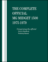 MG Midget 1500 Manual: 1975-1979