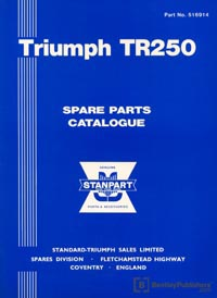 Triumph TR250 1968/Parts