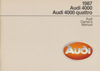 Audi 4000, 4000 quattro Owner's Manual: 1987