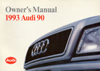Audi 90 Owner's Manual: 1993