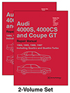 Audi 4000S, 4000CS and<br/>Coupe GT (B2):<br/>1984, 1985, 1986, 1987<br/>Official Factory Repair Manual