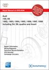 Audi 100, A6<br />1992, 1993, 1994, 1995, 1996, 1997, 1998<br />Including S4, S6, quattro and Avant<br />Repair Manual on DVD-ROM