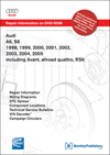 Audi A6, S6<br />1998, 1999, 2000, 2001, 2002, 2003, 2004, 2005<br />including Avant, allroad quattro, RS6<br />Repair Manual on DVD-ROM
