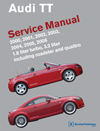 Audi TT:&lt;br/&gt;2000, 2001, 2002,&lt;br/&gt;2003, 2004, 2005, 2006&lt;br&gt; Service Manual