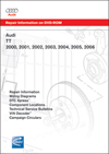 Audi TT<br />2000, 2001, 2002, 2003, 2004, 2005, 2006<br />Repair Manual on DVD-ROM
