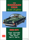 Volkswagen Karmann Ghia Gold Portfolio: 1955-1974