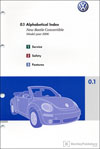 Volkswagen New Beetle Convertible Owner's Manual: 2006
