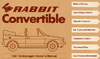 VW RABBIT CONVERTIBLE 1981 OM