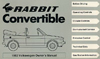VW RABBIT CONVERTIBLE 1982 OM