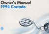 Volkswagen Corrado Owner&#039;s Manual: 1994