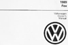 Volkswagen Fox Owner's Manual: 1989