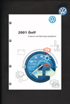 VW GOLF 2001 OM BINDER