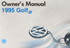 Volkswagen Golf Owner's Manual: 1995