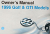 Volkswagen Golf/GTI Owner's Manual: 1996