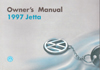 Volkswagen Jetta Owner's Manual: 1997
