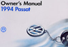 Volkswagen Passat Owner's Manual: 1994