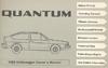 VW QUANTUM 1982 OM