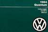 Volkswagen Quantum Owner's Manual: 1984